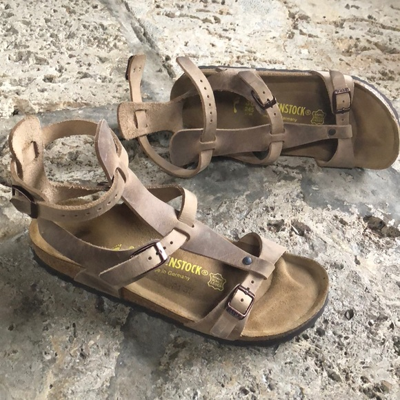 c738c735769 Birkenstock Shoes - Birkenstock chania gladiator tobacco NEW 38N brown